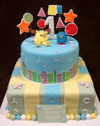 Как испечь торт на годик мальчику своими руками