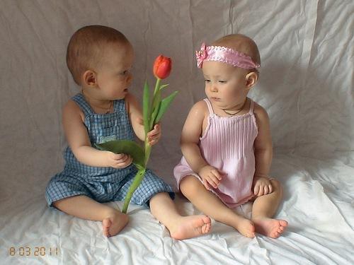 Поздравления для двойняшек мальчик и девочка