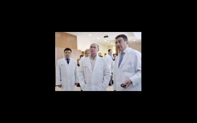 Визит Путина в медицинский центр «Мать и Дитя»