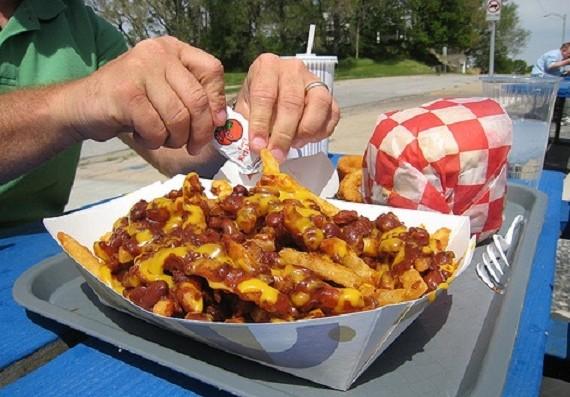 Жаренная во фритюре еда опасна для мужчин