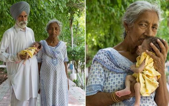 Родившая в 72 года индианка поделилась секретом молодости